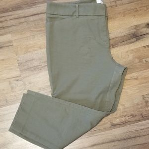 New York and Company olive green crop pants